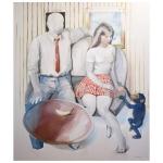 Det var sällan någon brydde sig <br/>akryl på duk 150 x 130 cm<br/>Kristina Nilsdotter/Bildupphovsrätt 2010