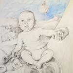 Samsara t.o.r. I<br/>teckning 70x50 cm<br/>© Kristina Nilsdotter/Bildupphovsrätt 2009
